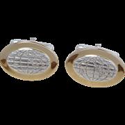 Tiffany & Co 18K Gold on Sterling Silver Globe Cufflinks w Pouch