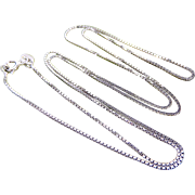 "Italian Sterling Silver 1mm Box Chain 23 1/2"" Necklace"
