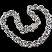 Vintage 6mm Sterling Silver Rolo Link Bracelet