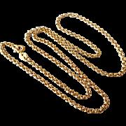 "Estate Italian 14K Gold Rolo Link Chain 18 3/4"" Necklace"