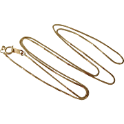 Vintage 14K Gold Box Chain 20 3/4 Inch Necklace