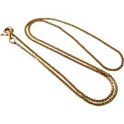 "Child's Vintage 14K Gold S-Link Chain 14"" Necklace"