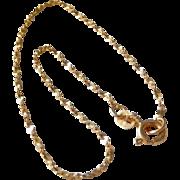 Estate 14K Yellow Gold Sparkle Chain Bracelet