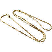 """Italian Gold Overlay Sterling Silver 1.5mm 18"""" Rope Chain Necklace"""