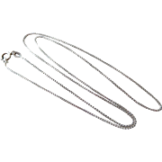 "Italian Sterling Silver 18 1/2"" Box Chain Necklace"