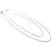 "Italian Sterling Silver 18 1/2"" Rolo Chain Necklace"