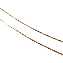 Vintage 14K Gold Box Chain 18 Inch Necklace.