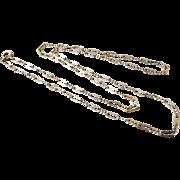 Antique Victorian 14K Gold Peanut Link Chain 15 Inch Necklace