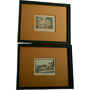 Pair French 19th Century Engravings by Jean Duplessis Bertaux