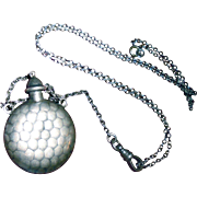Vintage Coin Silver Canteen Fob Chatelaine Necklace