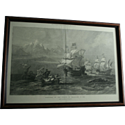 "1873 ""Discovery of the Straits of Magellan"" Engraving London Illustrated News Extra Special Supplement Framed"