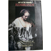 Esso National Gallery London Rembrandt Art Film 1980s Lithograph Poster Trafalgar Square England