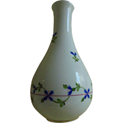 """6"""" Herend Hungary Blue Garland Floral Hand Painted Bud Vase"""