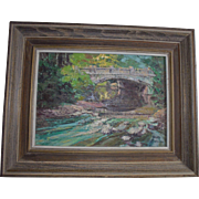 "Original Ronni Pastorini FL Listed Artist Oil Painting ""Woodland Brook"""