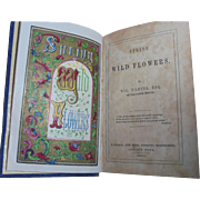 Scarce 1845 Poetry Book Scottish Poems William D'Leina Spring Wildflowers Rare