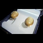 Vintage Mid-Century Lamode Cufflinks Set Black Rivoli Stone w/ Tie-pin Original Box