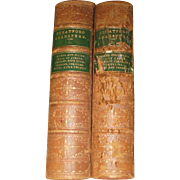 "1868 ""Stratford"" William Shakespeare Leather & Gilt Marbled 2 Volume Antique Books Set by D. Appleton Book Pub."