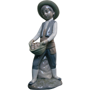 Boy Potato Farmer Figurine Made in Spain Zaphir