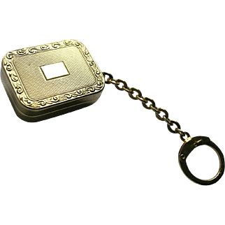 Beyond The Sea Reuge Miniature Music Box Charm Fob Pendant Gold-Plated on Key-chain St Croix Swiss Made Bobby Darrin Song