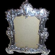 "Large 9.5"" Vintage Gorham Sterling Silver Art Nouveau Ornate Cherub Picture Frame"