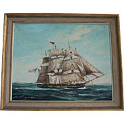 Renato Longanesi (b1931) Listed artist Original Clipper Ship Seascape Oil on Canvas Painting