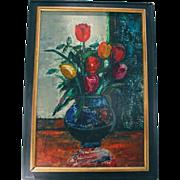 1968 Sasha Moldovan (Highly Listed Artist Russian / American (1901-1982) Original Still Life Oil Painting