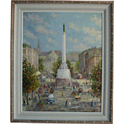Freedom Monument Riga Latvia by Voldemars Skulte (Latvian US 1907-1997)
