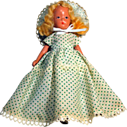 "Kerr & Heinz Painted Bisque Doll, 7"" tall, Circa 1930's.  Story Book Type Unmarked"