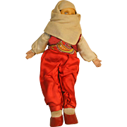 """Lenci Type 16"""" Doll Circa 1940's in  Ethnic Costume that may be Mid-Eastern."""
