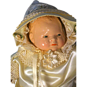 """Bye- Lo Baby Grace Storey  Putnam Doll Cameo Doll Head Circumference 13"""" 1924"""