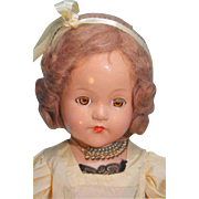 """Little Lady Ann Shirley Composition Doll by Effanbee 21"""" tall"""