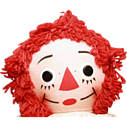 """Very large size Raggedy Ann 39"""" tall with original outfit in good condition."""