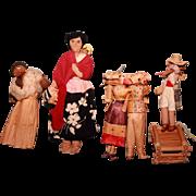 Ethnic dolls, lot of 4 each.