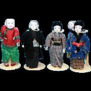 Lot of 5 Oriental dolls