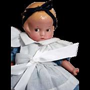 Patsyette doll in vinyl as Alice in Wonderland by Effanbee, original in box