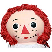 "Knickerbocker Raggedy Ann cloth doll 38"" tall in good original condition, tagged."