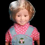"Shirley Temple vinyl doll 14"" tall dressed as Rebecca of  Sunnybrook Farm, Danbury Mint/Target"
