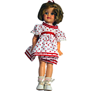 "Shirley Temple Doll by Ideal 15"" 1950's Vinyl Marked on Back ST-15"