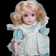 "Madame Alexander Maggie Face hard plastic blonde 14"" tall"