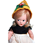 """Little  Betty composition doll by Madame Alexander 9-1/2"""", circa 1939-1943 - Red Tag Sale Item"""