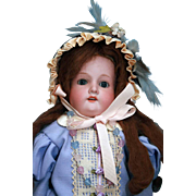"Armand Marseille mold 370, Bisque shoulder head  23"" tall German Bisque Doll"