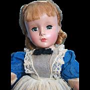 "Little Women 'Meg' by Madame Alexander, 14"" hard plastic, 1948-1956, good condition"