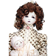 "Monica Mechling Doll Originals also known as Monika, all cloth 'Mary' mother doll 22"" with baby 9"" very good quality, much detail, all original, tagged"