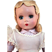 """Alice In Wonderland by Madame Alexander tagged 17"""" hard plastic Maggie face circa 1949 - 1952"""