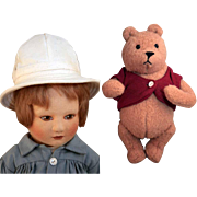 """R., John Wright Christopher Robin 19"""" and Winnie the Pooh 7 1/2"""""""