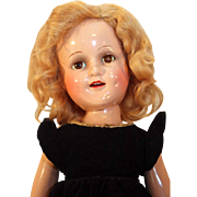 "Sonja Henie 18"" composition doll by Madame Alexander from 1939-1942 in very good condition."