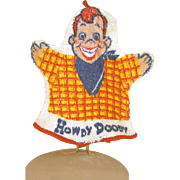 "Howdy Doody terry cloth wash cloth, 8 1/2"" Tall circa early 1950's"