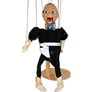 "Cowboy marionette Peter Puppet, compo, circa 1950, 13"" tall."