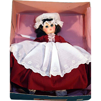 "Madame Alexander Marme 11"" hard plastic doll Little Women series original box marked 1324 vintage."