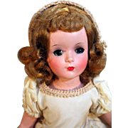 "Madame Alexander 14"" tall Wendy Bride jointed leg doll in hard plastic with original box, circa 1950"